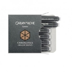 Naboje do pióra Caran d'Ache Organic brown