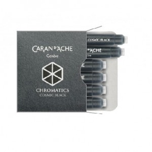 Naboje do pióra Caran d'Ache Cosmic black