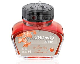 Atrament Pelikan 4001 czerwony brilliant red 30 ml